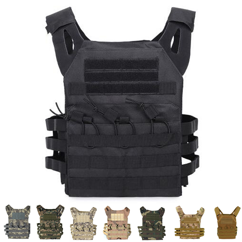 JPC Vest Simplified Version Military Protective Plate Carrier Tactical Hunting Airsoft Body Armor