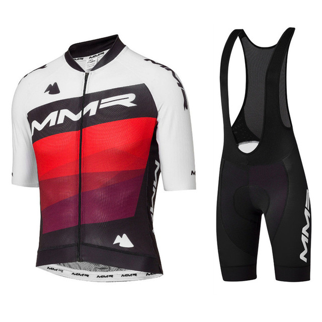 New 2020 Go Pro MMR Cycling Team Clothing Men Short Sleeve Jersey Sets Gel Pad Bib Shorts Ropa Ciclismo Maillot MTB Road Cycling