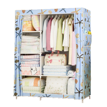Large Wardrobe Minimalist Modern Reinforced DIY Non-woven Foldable Portable Clothing Storage Cabinet Dustproof Cloth Closet - discount item  35% OFF Home Furniture