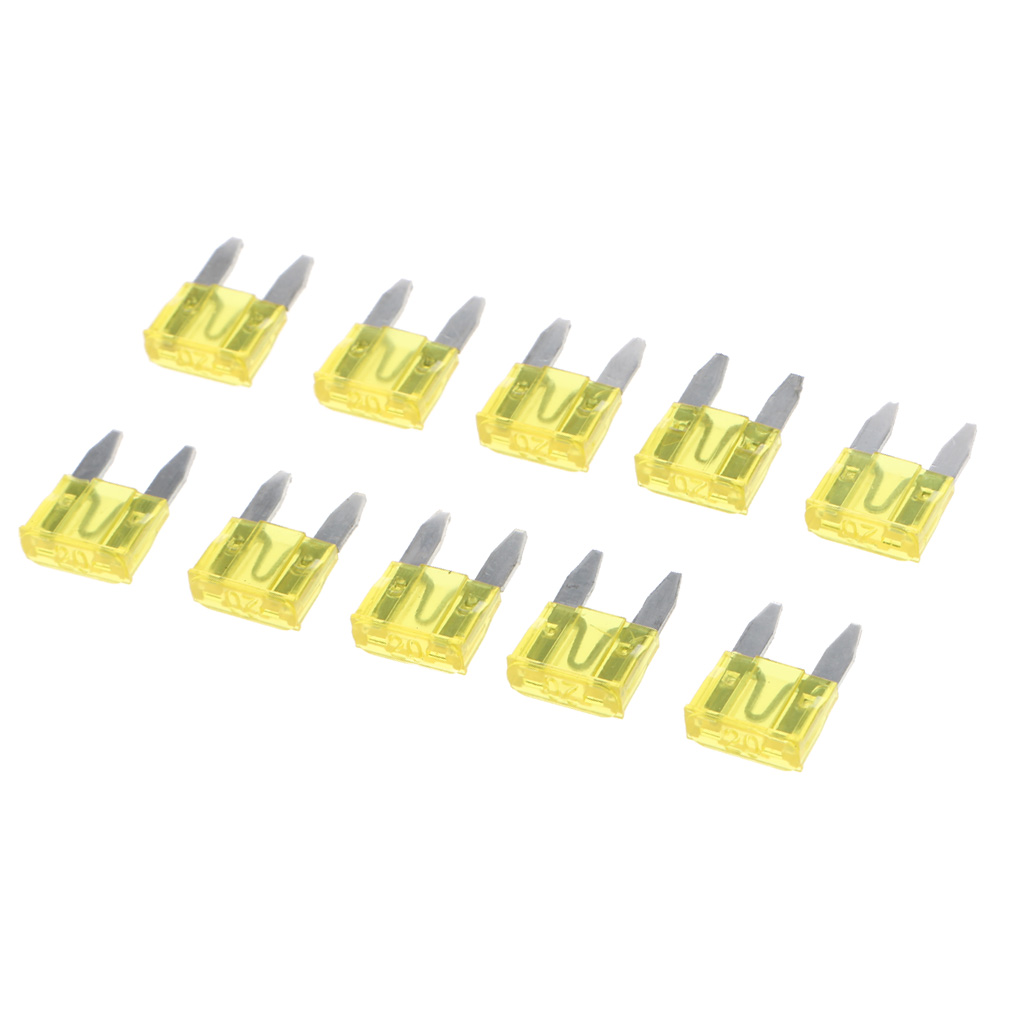 Pack of 10 20A Standard Car Auto Blade Fuse 20 Amp Yellow ATO