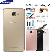 מקורי Samsung Galaxy A9 2016 SM A9000 זכוכית שיכון סוללה חזרה כיסוי אחורי דלת מקרה החלפת חלק דבק משלוח כלי