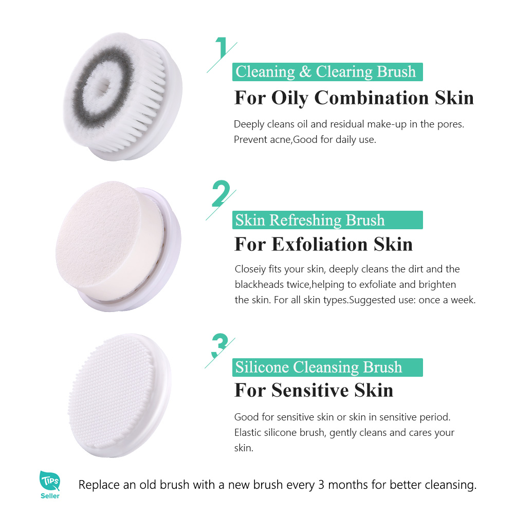 TOUCHBeauty 3 in1 rotating facial cleansing brush,2 speed setting with storage case Face Skin Cleanser&Exfoliator brush TB-0759A 1