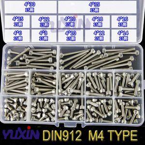 Image 3 - 280 sztuk/zestaw A2 70 304 ze stali nierdzewnej DIN912 M3 M4 M5 M6 M8 śruba imbusowa gniazdo sześciokątne okrągła czapka głowy wkręty śrubowe asortyment Kit zestaw