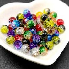 50 шт 8 мм двухцветные бусины с эффектом трещин разделительные бусины для изготовления украшений вручную DIY