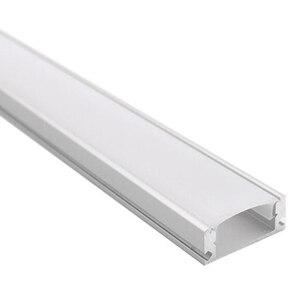 Profili alluminio led 0,5 м Светодиодная лента алюминиевый профиль для 12 мм pcb 5050 5630 Светодиодная лента корпус алюминиевый канал с крышкой