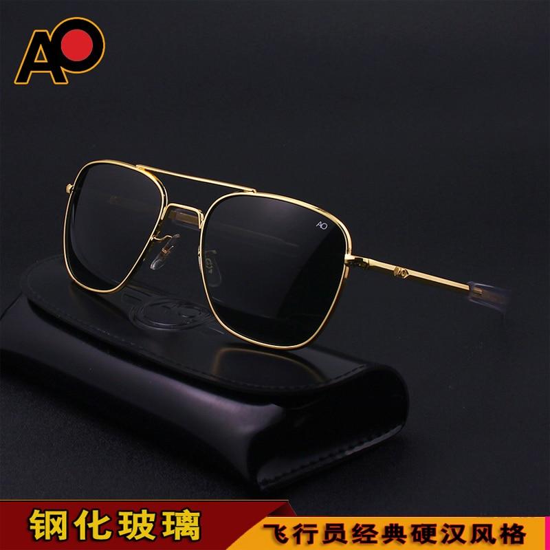 Ao logotipo óculos de sol dos homens 2021 uv400 na moda retângulo alta qualidade condução vidro do exército americano militar óptico piloto óculos sol