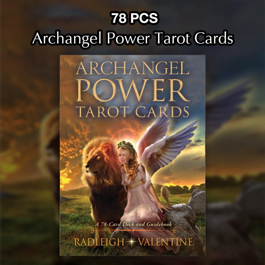 78 PCS Set Archangel Power Tarot Cards PDF Guidebook Table Board Game Playing Cards Family Friend Party Entertainmen