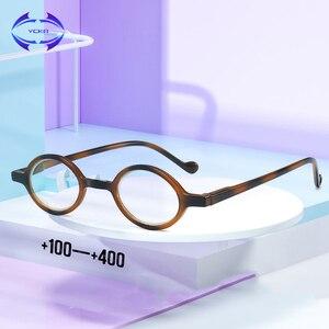 VCKA TR90 Anti-Blue Light Mulheres Redondas Retro Óculos de Leitura quadro Homens Óculos De Presbiopia Portátil Ampliação + 1.00 a + 4.00