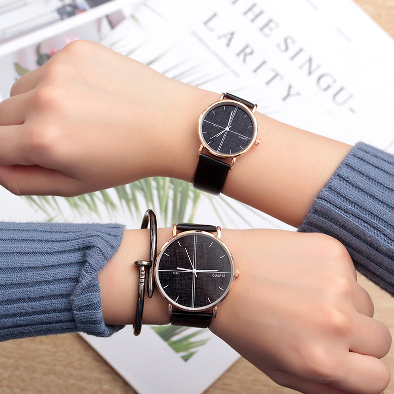 Permalink to Couple Watches 2019 New Fashion Leather Lover's Watches Student Couple Watch Gifts  for Men Women Clock Pareja Pair no bangle