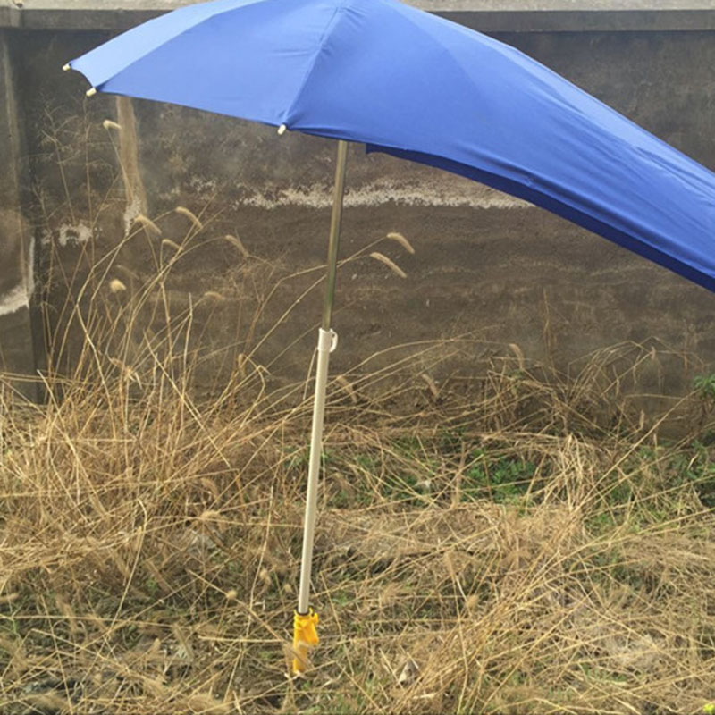 Adjustable Sun Beach Umbrella Stand Spike Fishing Parasol Ground Anchor Holder J8 #3