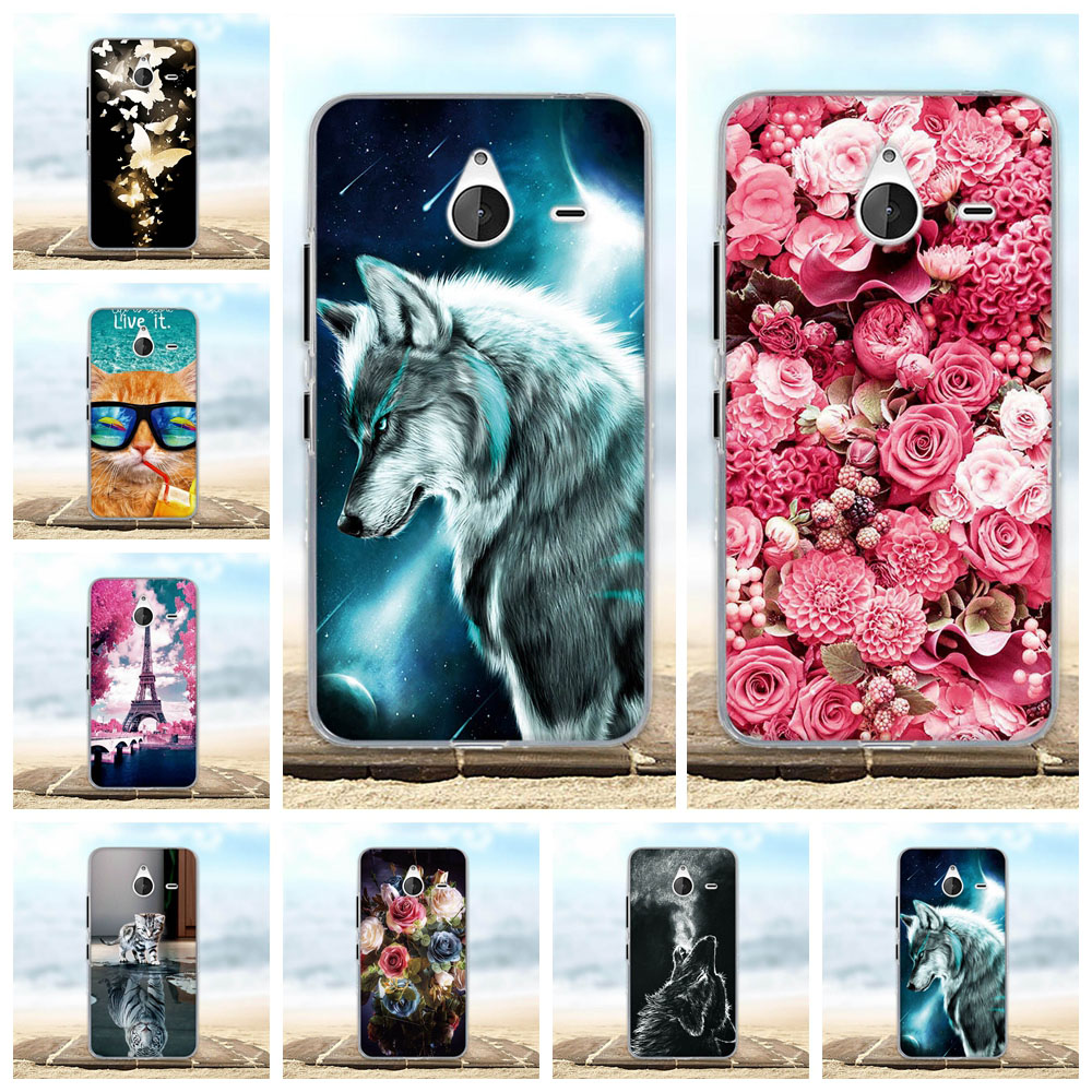 For Nokia Microsoft Lumia 640 XL 550 650 640 Case Soft Silicon Cover 3D Cute Capa For Microsoft Lumia 640 XL 640xl Phone Cases image