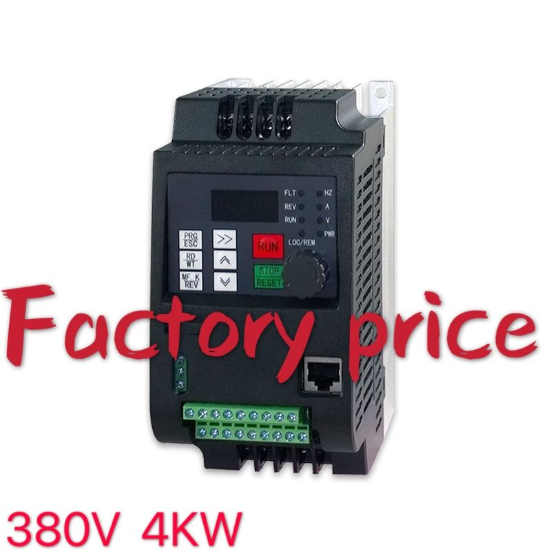 4kw 380v Three Phase Input 380v 3 Phase Output AC Frequency Inverter & Converter AC Drives Frequency Converter