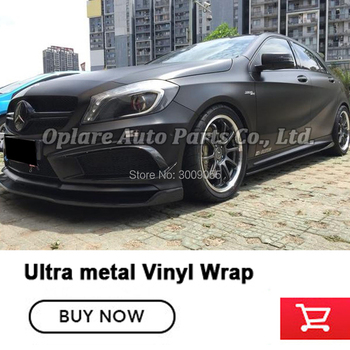 Newest color Ultra Metal wrapping film black car vinyl wrap Vehicle wrapping paper car skin Air Bubble Free Black vinyl