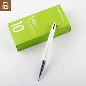 Image 5 - Yeni Youpin KACO kolay 4 1 çok fonksiyonlu kalem 4 renk 0.5mm siyah mavi kırmızı yeşil dolum jel kalem ofis öğrenci için