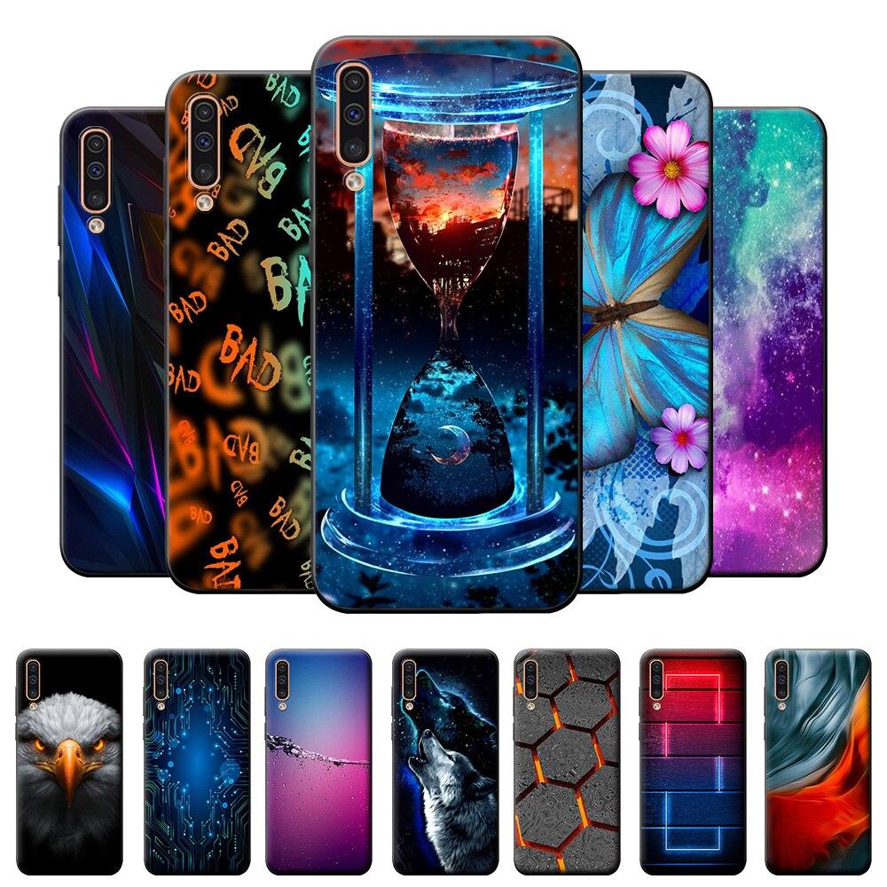 Para samsung a50 caso tpu para samsung galaxy a50 a 50 capa traseira a505f a505fn lobo silicone macio caso do telefone para samsung a50