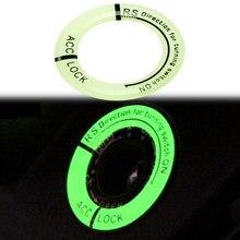 Carro da motocicleta interruptor de ignição luminosa etiqueta para toyota prado 120 land cruiser C-HR yaris auris hilux corolla camry rav4