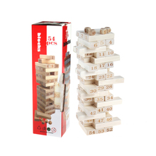 48PCS Wooden Blocks Building Jenga Pulling Children Educational Toys children toys 0215