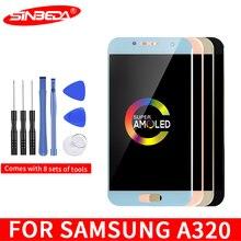 4.7 Super AMOLED LCD For SAMSUNG Galaxy A320 Touch Screen Digitizer SM-A320F A320M A320Y A3 2017 Display