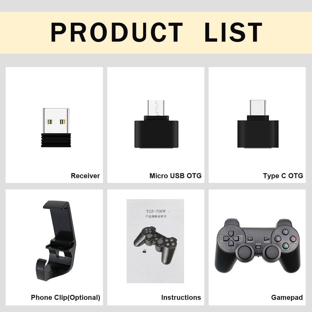 Drahtloses Gamepad für Android-Handy / PC / PS3 / TV-Box Joystick - Spiele und Zubehör - Foto 6