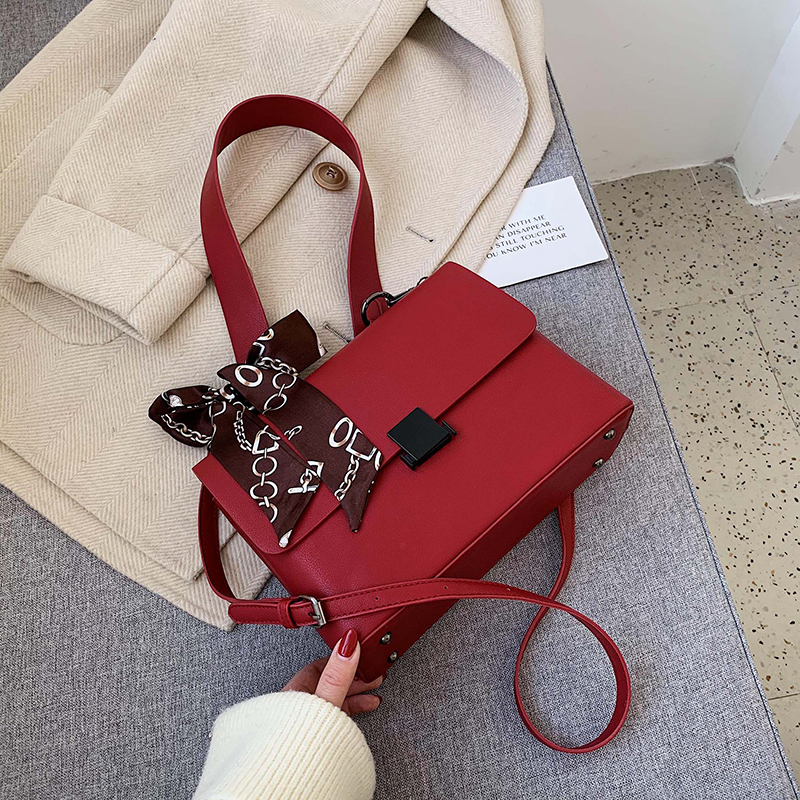 Personalized Red Western Messenger Bag