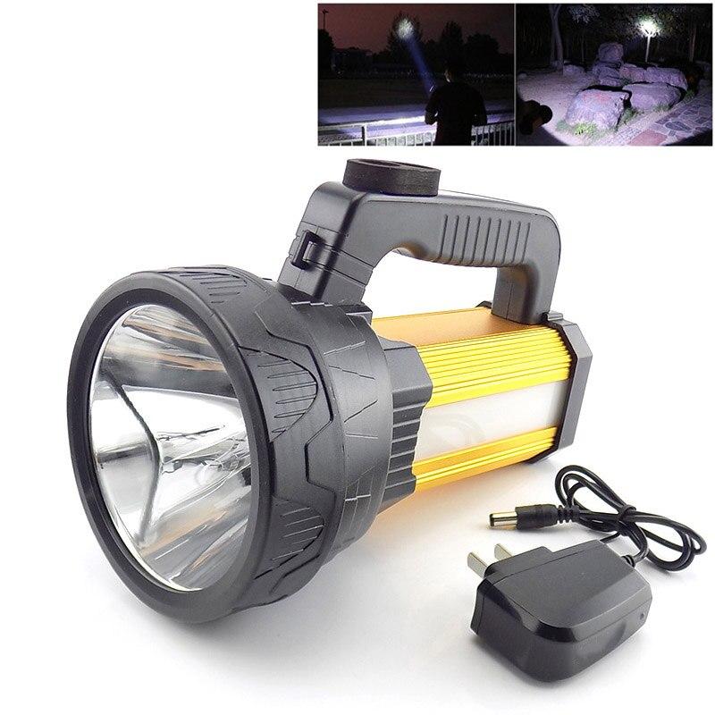 T6 COB портативный светильник вспышка, перезаряжаемый ручной фонарь, светодиодный светильник со встроенным аккумулятором, Мощный Usb поисковы