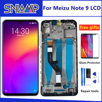 New Tested For Meizu Note 9 LCD Display +Digitizer Touch Screen Glass Replacement Parts For Meizu Note 9 Display Screen+Frame