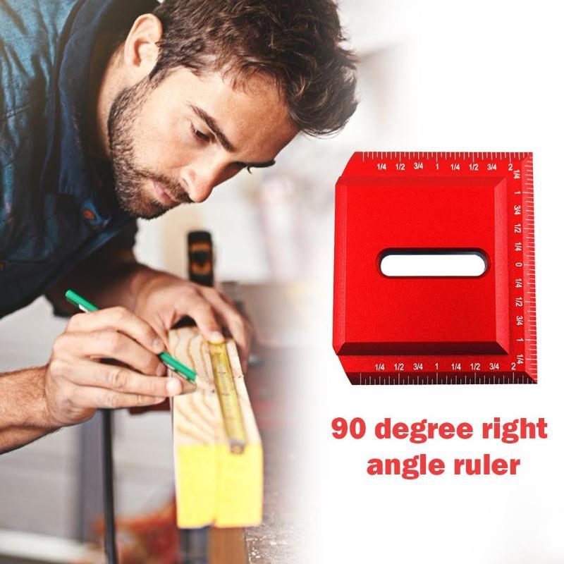 DIY Gauge Woodworking Scriber 45/90 Degree Right Angle Ruler Measuring Tool