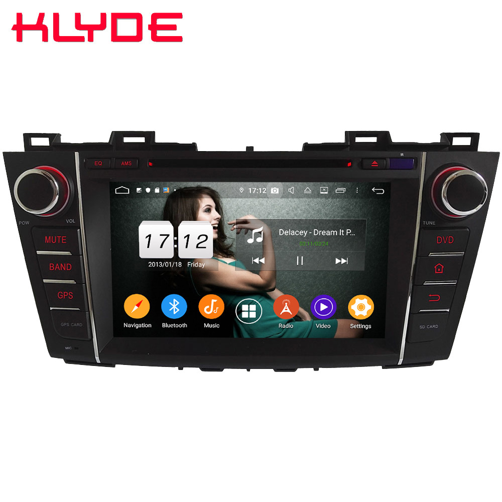 Klyde IPS 4G WIFI Android 9.0 Octa Core 4GB RAM 64GB ROM BT DSP Car DVD Multimedia Player Radio For Mazda 5 Premacy 2009 2013