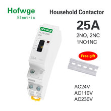 HCH8-25M 2P 25A 220V Din Rail Household AC Modular Contactor With Manual Control Switch 2NO 1NO1NC or 2NC