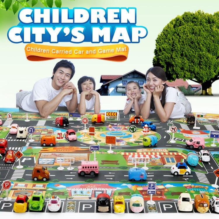 H167e46cee46e4a5e82513f3caead2a3a8 Large City Traffic Car Park Mat Play Kids Rug Developing Baby Crawling Mat Play Game Mat Toys Children Mat Playmat Puzzles ZXH
