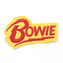 David Bowie Patches DIY Embroidered badges Iron on sewing pour clothes Applique accessories stickers E0099