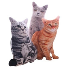 LREA 50cm 3D The simulation cat Cushion COVER Sofa /seat/bed/car /hotel Home Decoration Pillow case Covers