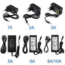 Адаптер источника питания на 12 В постоянного тока, 1/2/3/5/6/8/10 А, преобразователь осветительных приборов для светодиодной ленты
