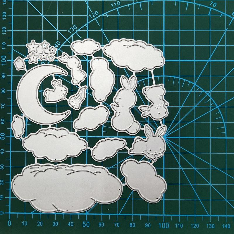 Stars, Moon, Rabbit, Clouds Metal Cutting Dies Stencils For DIY Scrapbooking Decorative Embossing Handcraft Die Cutting Template