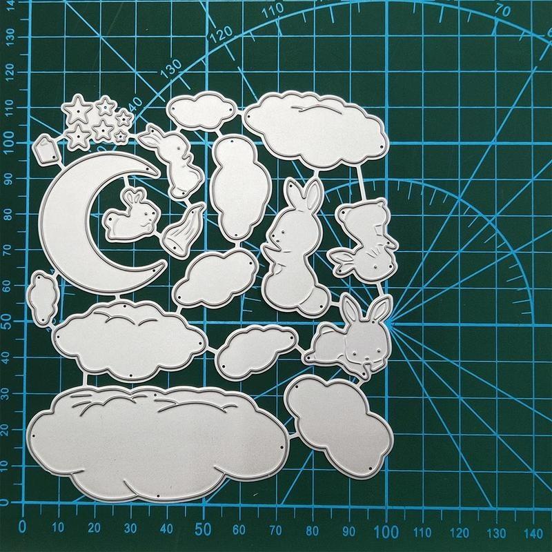 Stars, Moon, Rabbit, Clouds Metal Cutting Dies Stencils For DIY Scrapbooking Decorative Embossing Handcraft Die Cutting Template