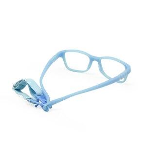 Image 3 - Monture de lunettes pour garçons et garçons, avec sangle, Flexible, pliable, sans vis, sécuritaire, optique, une pièce, 43/16