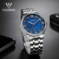 CADISEN-relojes mecánicos para hombre, deportivo, resistente al agua, de acero inoxidable, mecanismo Miyota de negocios, masculino