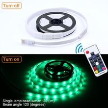 5 в светодиодный водонепроницаемый походный Кемпинг аварийная USB световая полоса тент свет фонарь лампа 150 см белый свет/RGB 30/60 светодиодный s