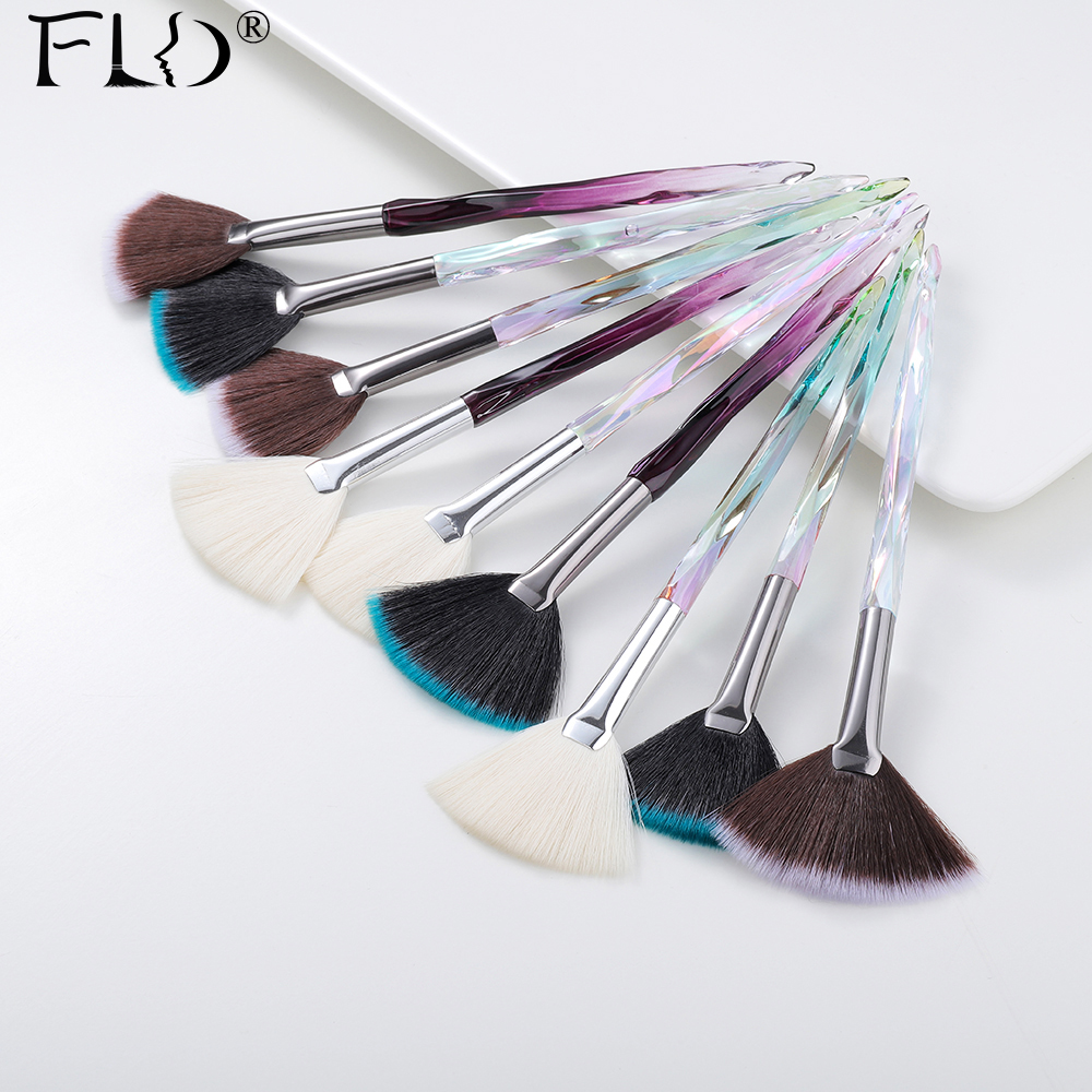 FLD Crystal 1pcs Makeup Brush Sculpting Face Professional Brush Make Up Set Kits Cosmetic Tools Foundation Brush