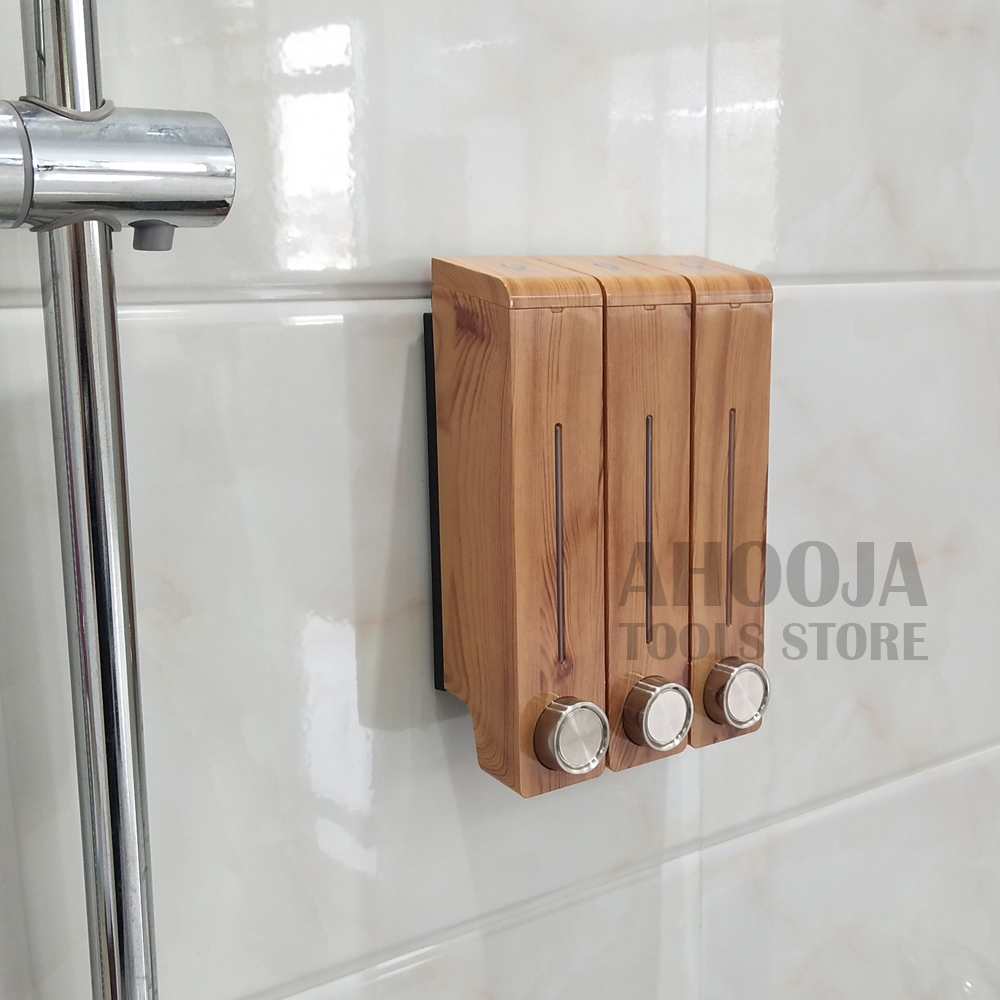 Image 4 - Bathroom Liquid Soap Dispenser Wall Mounted Detergent Shower Gel Hand Soap Shampoo Dispenser Hotel Mall Kitchen Soap Bottle-in Liquid Soap Dispensers from Home Improvement
