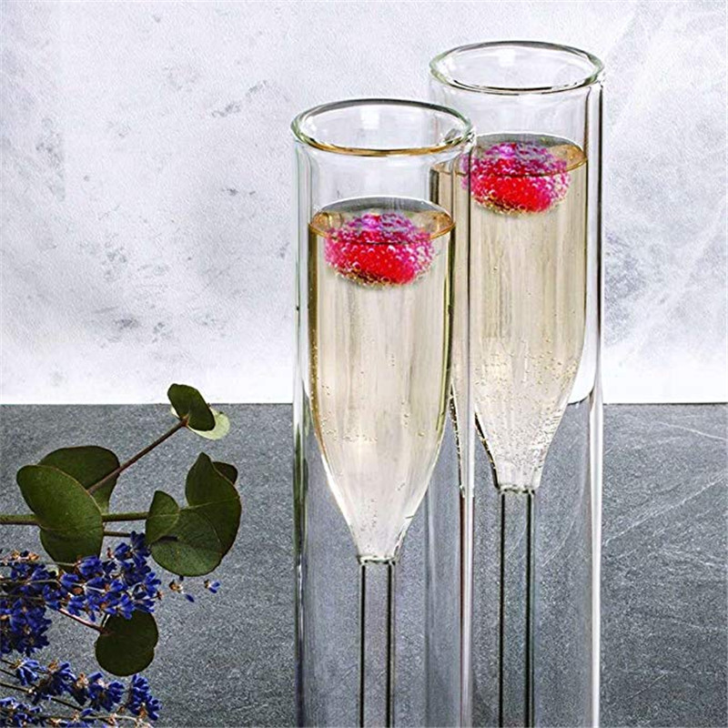 Double Walled Champagne Flutes