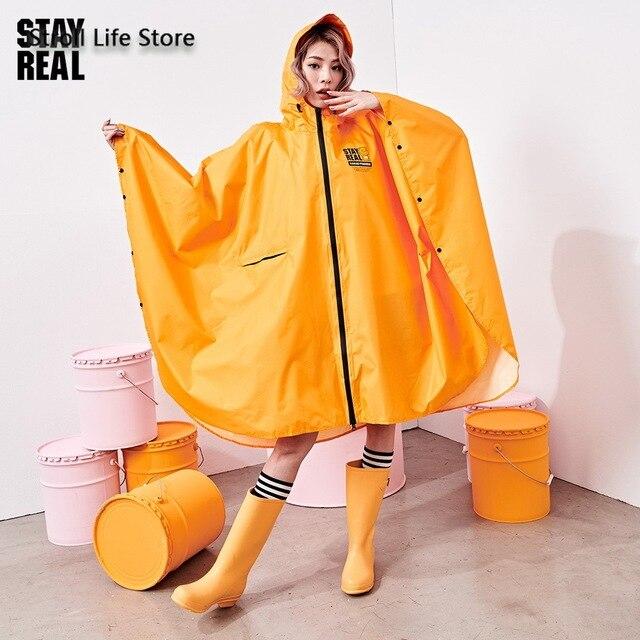 Yellow Rain Poncho Raincoat Women Cute Orange Waterproof Poncho Rain Coat Jacket Hiking Impremiable Motorcycle Raincoat Gift 1
