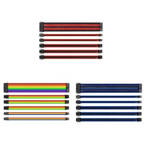 Przedłużenie kabla z tuleją do okablowania zasilającego 24 Pin 4 + 4Pin 6 + 2Pin 6Pin