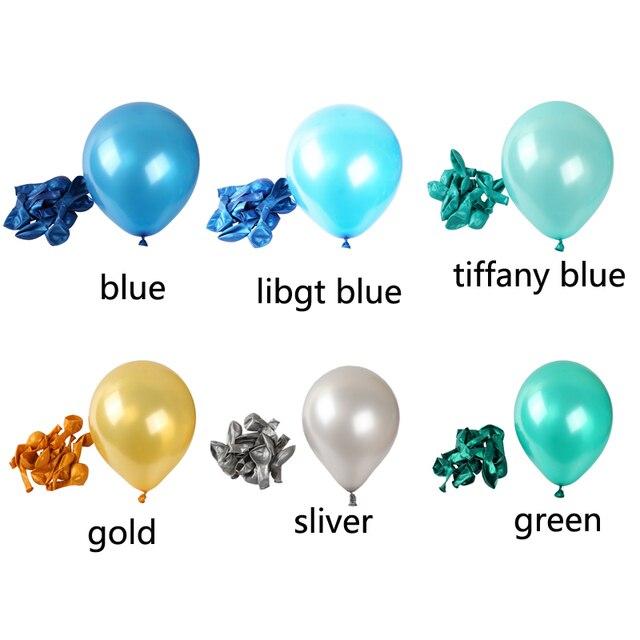 10pcs/lot white blue Pearl Latex Balloon Air Balls Childrens Birthday Party Balloons wedding party decoration balloon kid toys