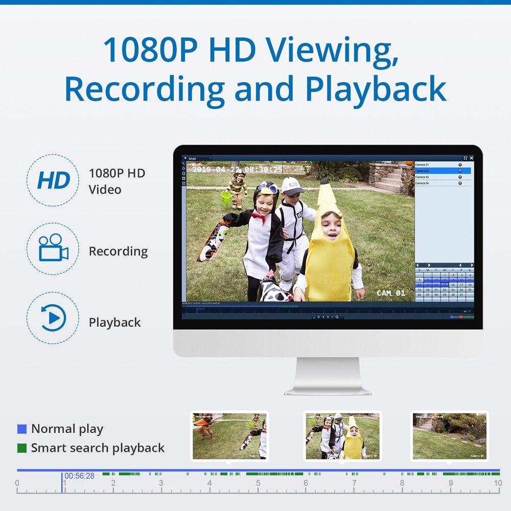 Sannce 8ch kablosuz ip kamera wi-fi nvr kiti 1080 p hd açık ir gece - Güvenlik ve Koruma - Fotoğraf 4