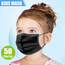 24h Fast Shipping Disposable Child Mask Child Face Mask 50pcs/100pcs 3-layer Disposable Non-woven Fabric Child Protection Mask