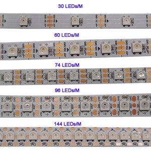 Image 2 - WS2812B 1m/5m 30/60/144 pixels/leds/m Smart led pixel strip,WS2812 IC;WS2812B/M,IP30/IP65/IP67,Black/White PCB,DC5V