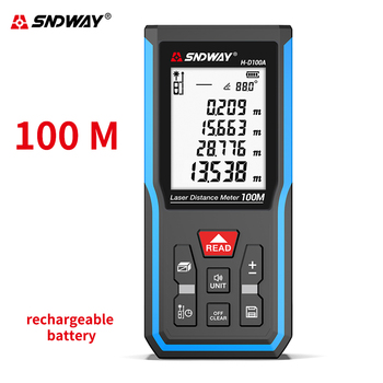 Sndway new launch laser distance meter electronic roulette laser rangefinder 40/50/70M 100M 120M laser tape measure range finder laser distance measuring meter electronic laser digital tape rangefinder 50m 100m 120m laser tape range finder measuring tool
