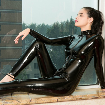 Women Crotchless Latex Bodysuit Bodysuits INTIMATES