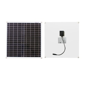 Image 2 - 18V 10w 20w 40w 100w kit pannello solare trasparente flessibile monocristallino modulo solare modulo fai da te connettore esterno caricatore DC 12v